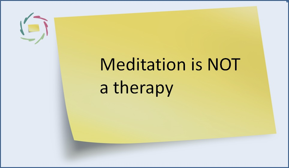 30. Meditation is NOT a therapy - Aurelis blog